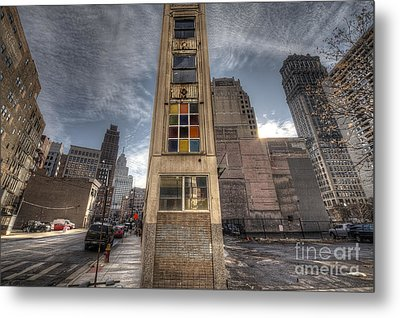 Downtown Synagogue In Detroit Metal Print by Twenty Two North Photography