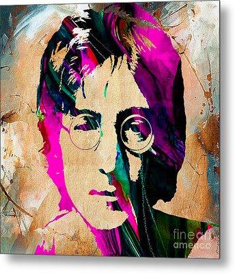 John Lennon Painting Metal Print by Marvin Blaine