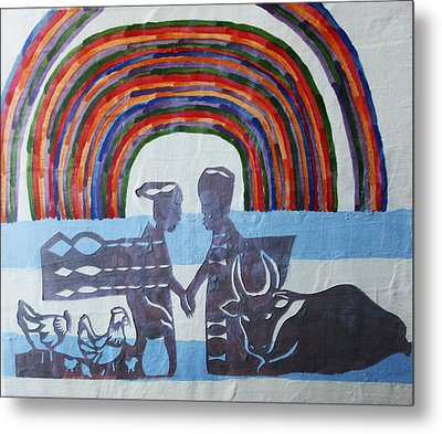 Kintu And Nambi Metal Print by Gloria Ssali