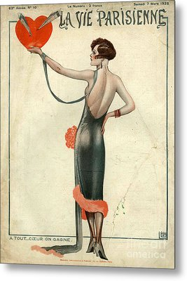 La Vie Parisienne  1925  1920s France Metal Print by The Advertising Archives
