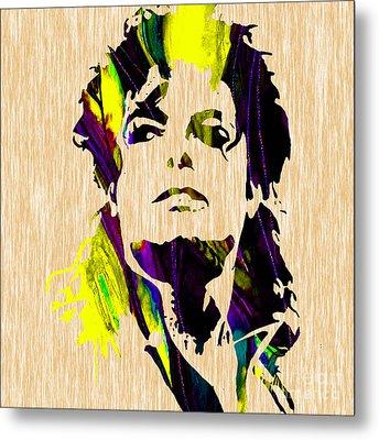 Michael Jackson Painting Metal Print by Marvin Blaine