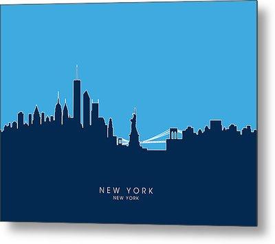 New York Skyline Metal Print by Michael Tompsett