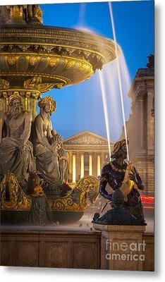 Paris Fountain Metal Print by Brian Jannsen