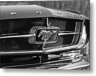 1965 Shelby Prototype Ford Mustang Grille Emblem Metal Print by Jill Reger