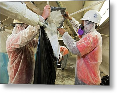 Asbestos Removal Training Metal Print by Jim West