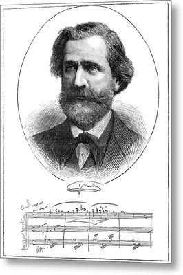 Giuseppe Verdi (1813-1901) Metal Print by Granger