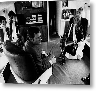 Hugh Hefner Metal Print by Retro Images Archive