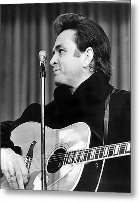 Johnny Cash Metal Print by Retro Images Archive