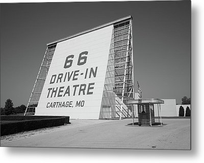 Route 66 - Drive-in Theatre Metal Print by Frank Romeo