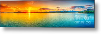 Sunset Panorama Metal Print by MotHaiBaPhoto Prints