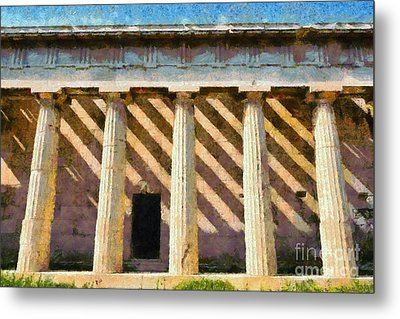 Temple Of Hephaestus Metal Print by George Atsametakis