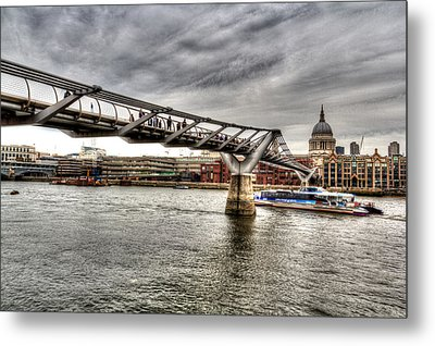 The Millennium Bridge Metal Print by David Pyatt