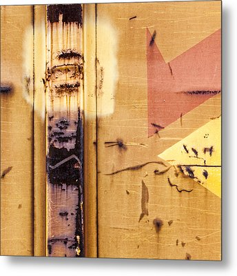 Train Art Abstract Metal Print by Carol Leigh
