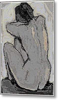 Alone With Grief Metal Print by Pemaro