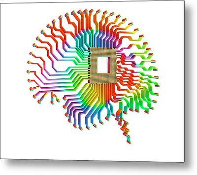 Artificial Intelligence Metal Print by Alfred Pasieka