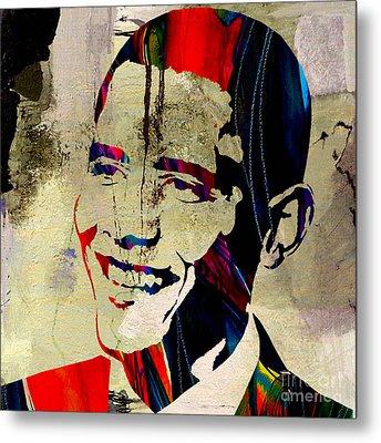 Barack Obama Metal Print by Marvin Blaine
