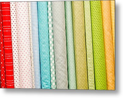 Fabric Background Metal Print by Tom Gowanlock