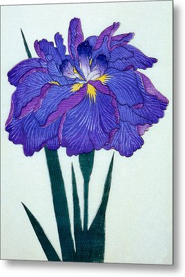 Japanese Flower Metal Print by Japanese School