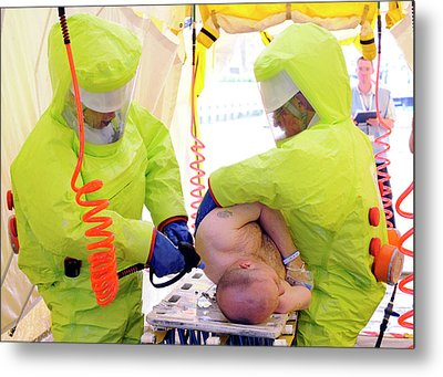 Major Emergency Decontamination Training Metal Print by Public Health England