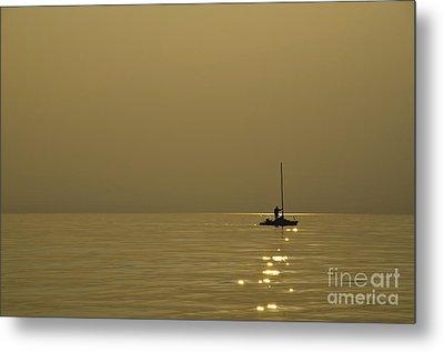 Sailing Boat Metal Print by Mats Silvan