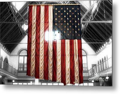 911 Flag Metal Print by John Rizzuto