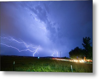 95th And Woodland Lightning Thunderstorm View Metal Print by James BO  Insogna