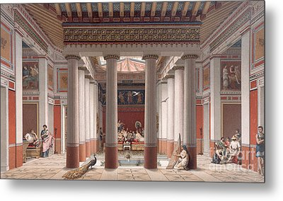 A Banquet In Ancient Greece Metal Print by Nordmann