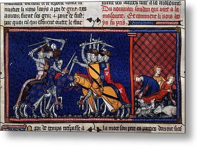 A Battle; Pestilence Metal Print by British Library