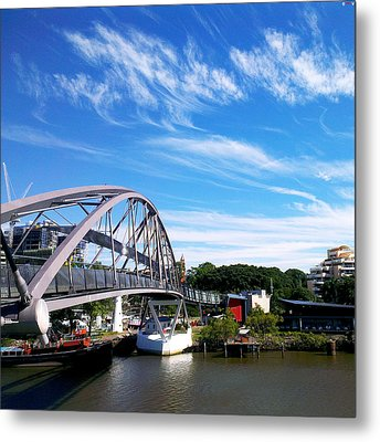 A Bridge Of Goodwill Metal Print by Edwin Vincent