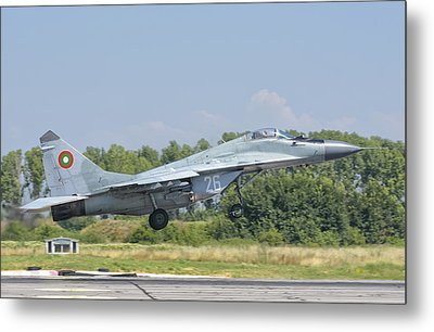A Bulgarian Air Force Mig-29 Metal Print by Giovanni Colla