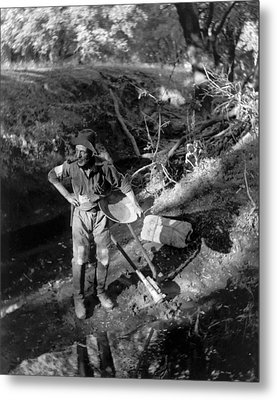 A California Gold Miner Metal Print by Underwood Archives