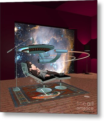 A Cgi Artist Dreams Metal Print by Walter Oliver Neal