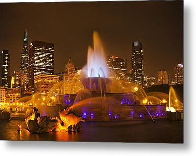 A Chicago Twilight Metal Print by Andrew Soundarajan