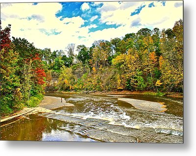 A Cleveland Autumn Metal Print by Frozen in Time Fine Art Photography