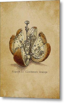 A Clockwork Orange Metal Print by Eric Fan