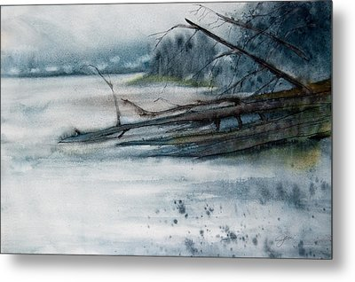 A Cold And Foggy View Metal Print by Jani Freimann
