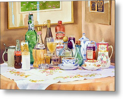 A Collection Of Drinks Metal Print by Mary Helmreich