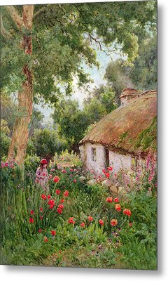 A Cottage Garden Metal Print by Tom Clough