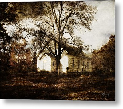 A Country Church Metal Print by Cynthia Lassiter
