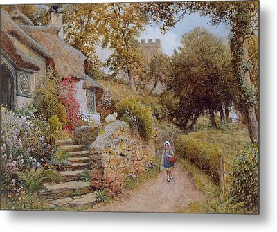 A Country Lane Metal Print by Arthur Claude Strachan