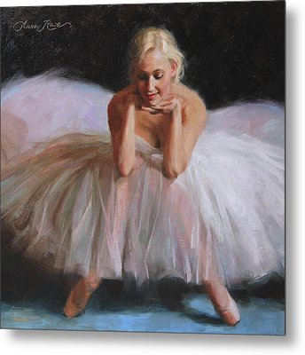 A Dancer's Ode To Marilyn Metal Print by Anna Rose Bain