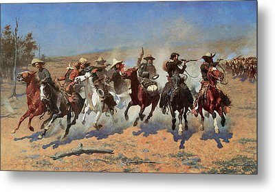 A Dash For The Timbers Metal Print by Frederic Remington
