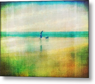 A Day By The Sea Metal Print by Suzy Norris