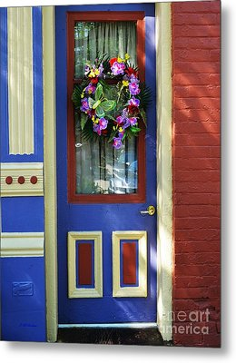A Door Of Many Colors Metal Print by Mel Steinhauer