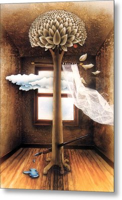 A Dream Of Words Metal Print by Jose Luis Alcover