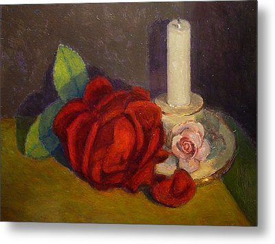 A Dying Rose Metal Print by Terry Perham