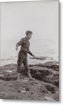 A Fisher Laddie Metal Print by James Patrck