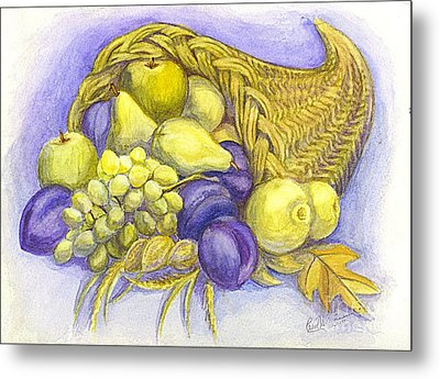 A Fruitful Horn Of Plenty Metal Print by Carol Wisniewski