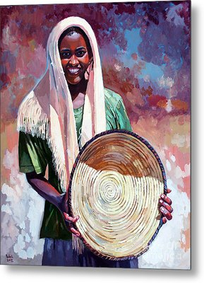A Girl From The Countryside Metal Print by Mohamed Fadul