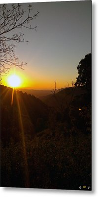 A Glorious Sunrise Over Nebo Metal Print by Edwin Vincent